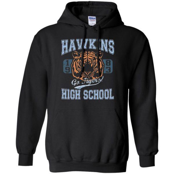 Hawkins High School hoodie - black