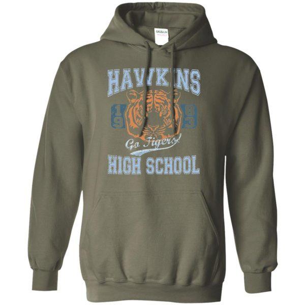 Hawkins High School hoodie - military green