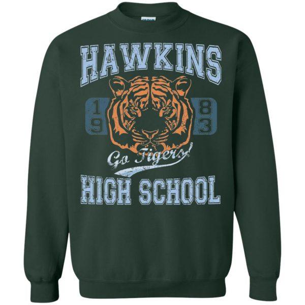 Hawkins High School sweatshirt - forest green