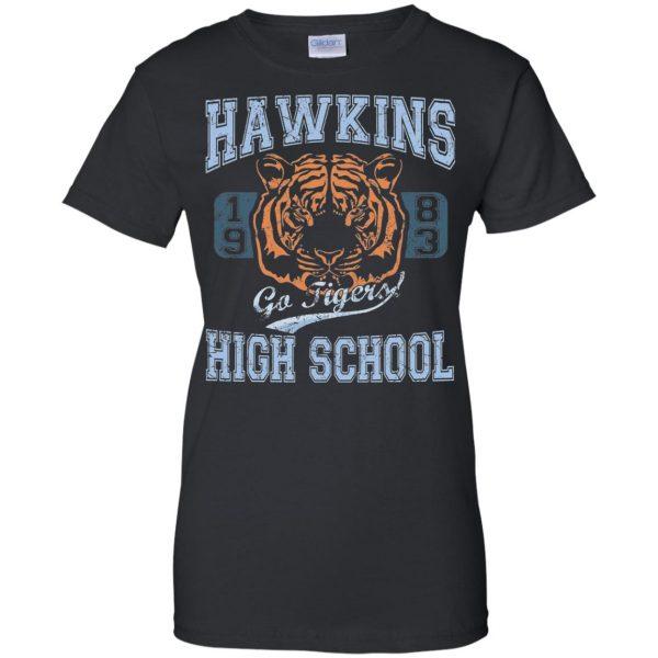 Hawkins High School womens t shirt - lady t shirt - black