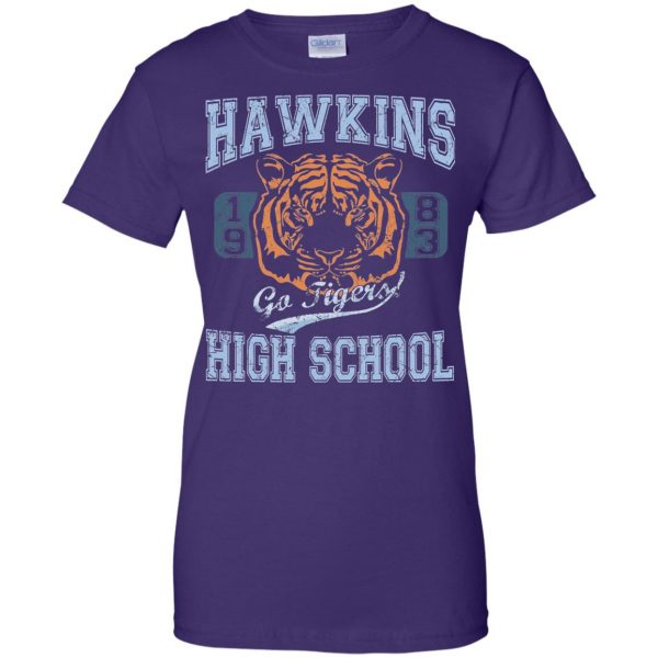 Hawkins High School womens t shirt - lady t shirt - purple