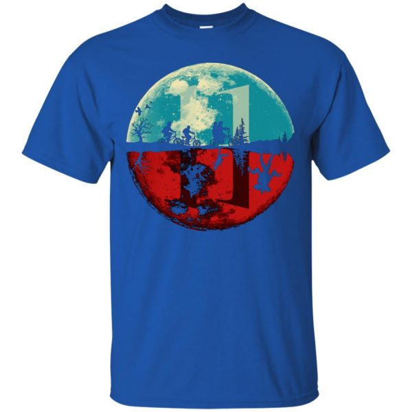 Stranger Moon t shirt - royal blue
