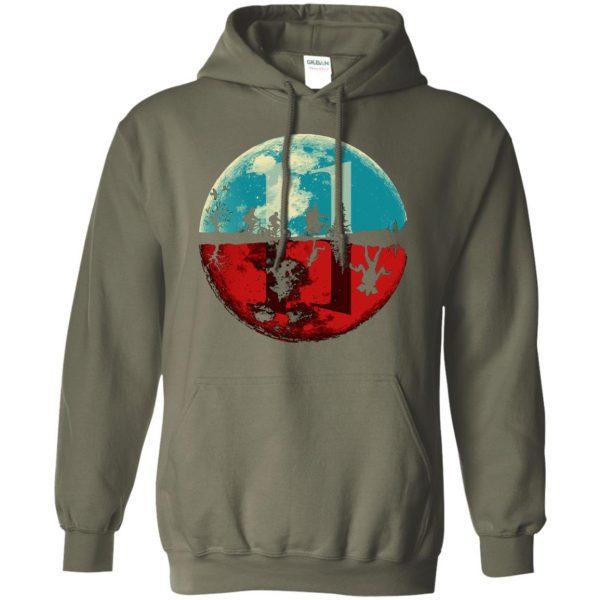 Stranger Moon hoodie - military green