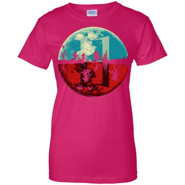 Stranger Moon womens t shirt - lady t shirt - pink heliconia