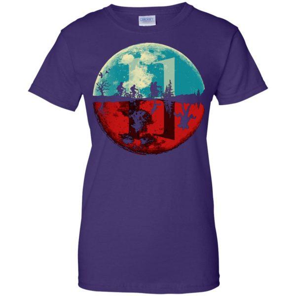 Stranger Moon womens t shirt - lady t shirt - purple