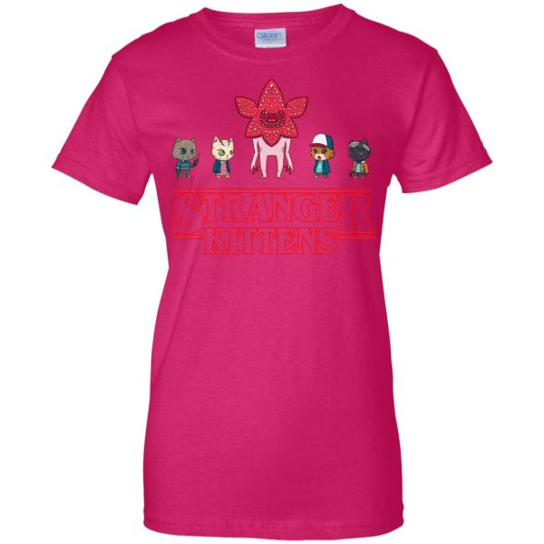 Stranger Kittens womens t shirt - lady t shirt - pink heliconia