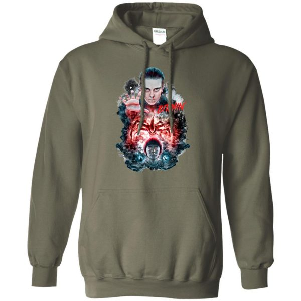 Eleven and Will hoodie - military green