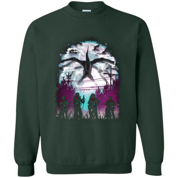 Demogorgon sweatshirt - forest green