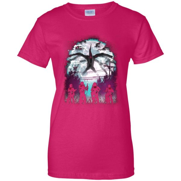 Demogorgon womens t shirt - lady t shirt - pink heliconia