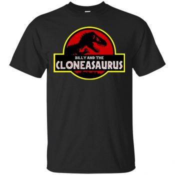 billy and the cloneasaurus shirt - black
