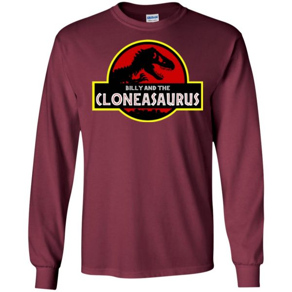 billy and the cloneasaurus long sleeve - maroon