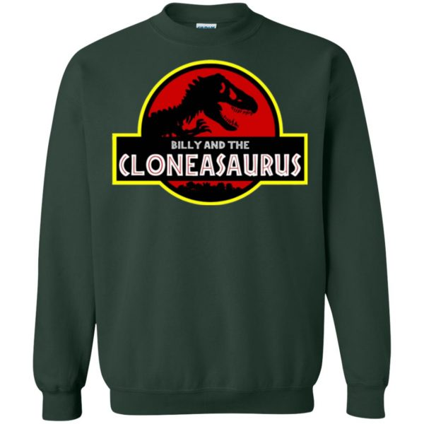 billy and the cloneasaurus sweatshirt - forest green