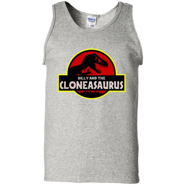 billy and the cloneasaurus tank top - ash