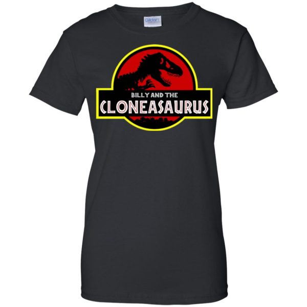 billy and the cloneasaurus womens t shirt - lady t shirt - black