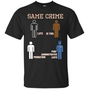 same crime shirts - black