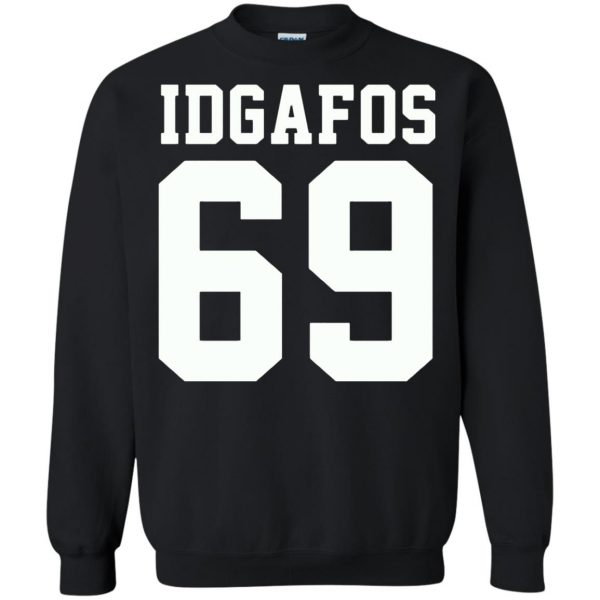 idgafos sweatshirt - black
