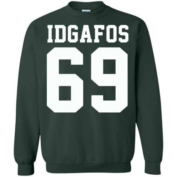 idgafos sweatshirt - forest green