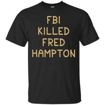 fred hampton t shirt - black