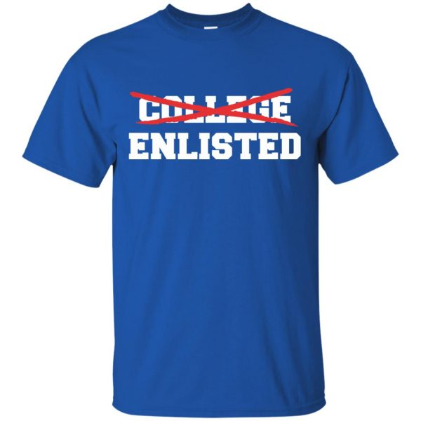 college enlisted t shirt - royal blue