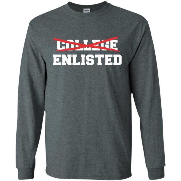 college enlisted long sleeve - dark heather