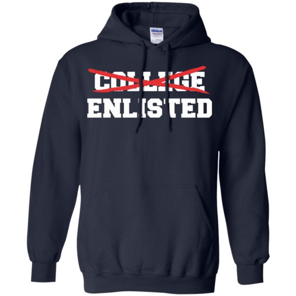 college enlisted hoodie - navy blue