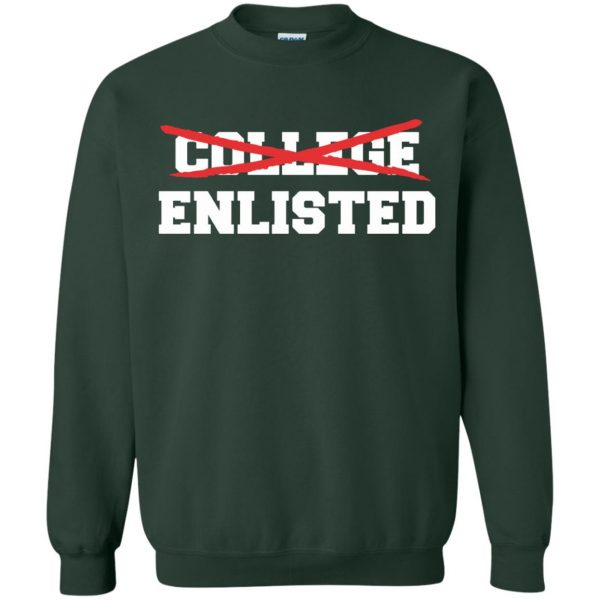 college enlisted sweatshirt - forest green