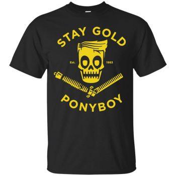stay gold ponyboy shirt - black