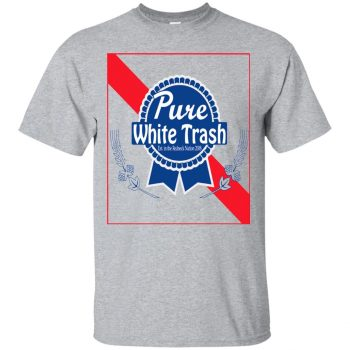 pure white trash shirt - sport grey