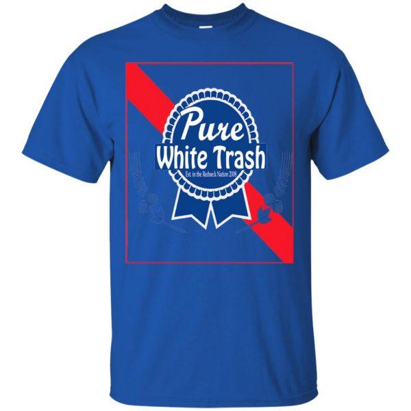 pure white trash t shirt - royal blue