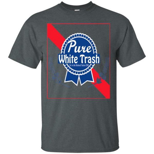 pure white trash t shirt - dark heather