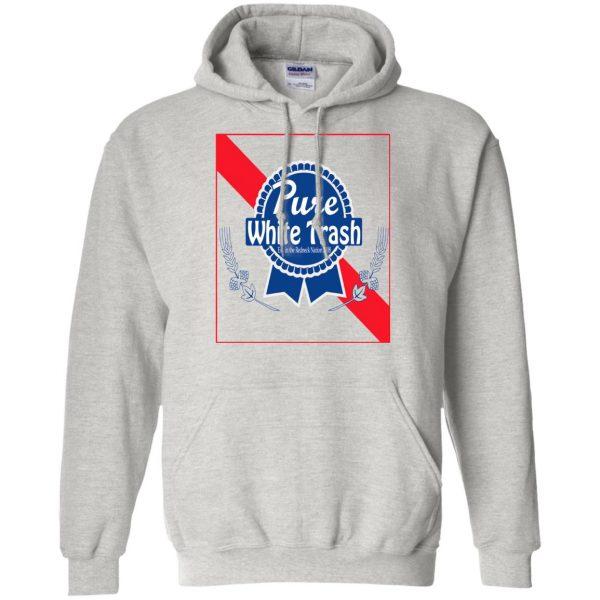 pure white trash hoodie - ash