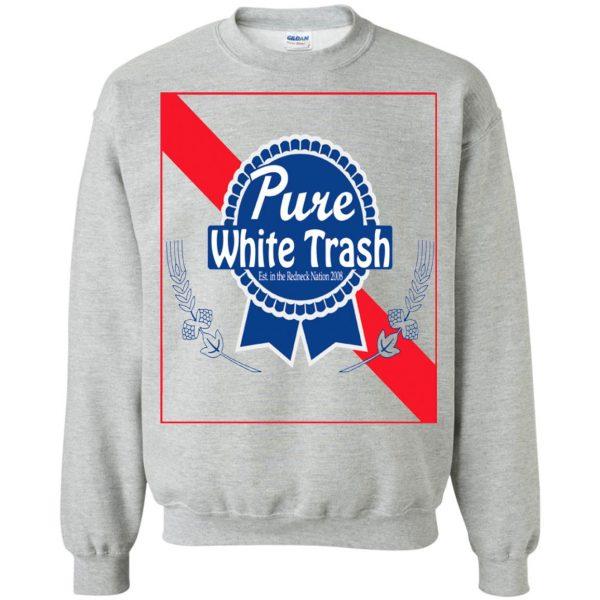 pure white trash sweatshirt - sport grey