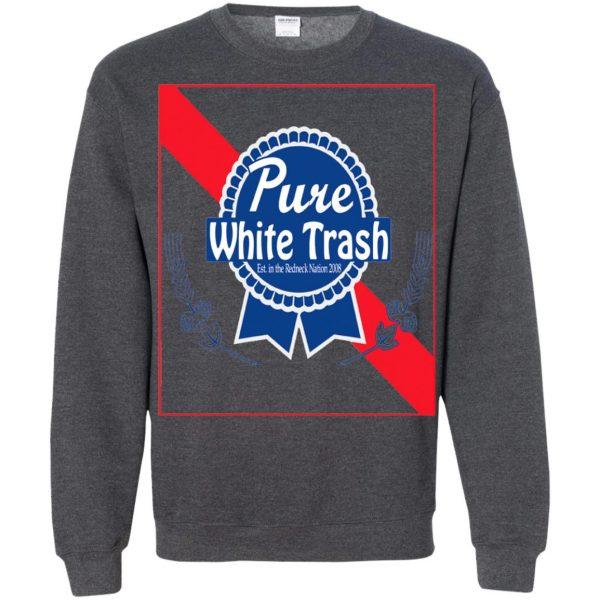 pure white trash sweatshirt - dark heather