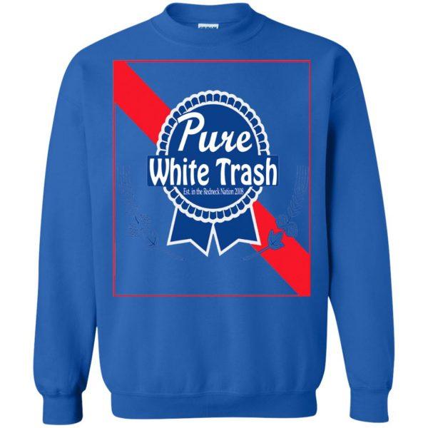 pure white trash sweatshirt - royal blue