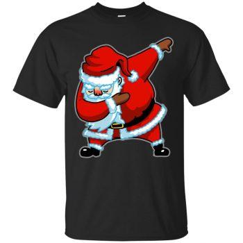 dabbing santa hoodie - black