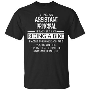 assistant principal t shirt - black