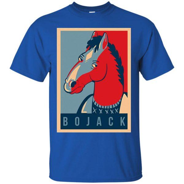bojack horseman t shirt - royal blue