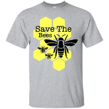 save the bees hoodie - sport grey