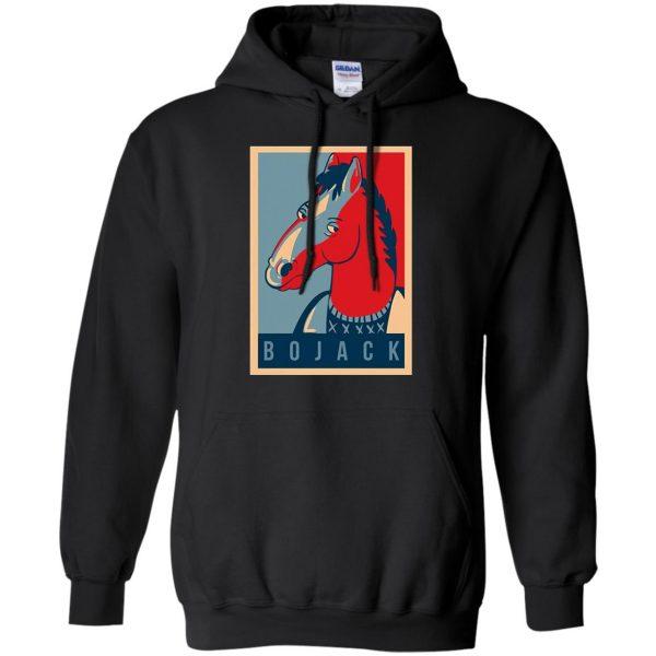 bojack horseman hoodie - black