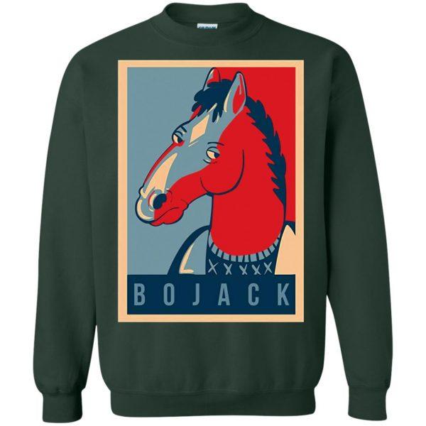 bojack horseman sweatshirt - forest green
