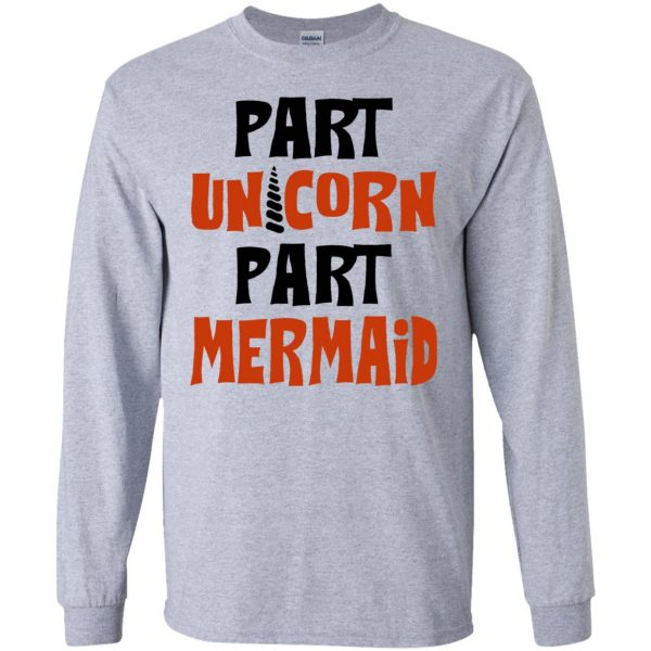 mermaid unicorn long sleeve - sport grey
