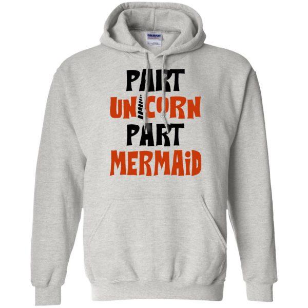 mermaid unicorn hoodie - ash