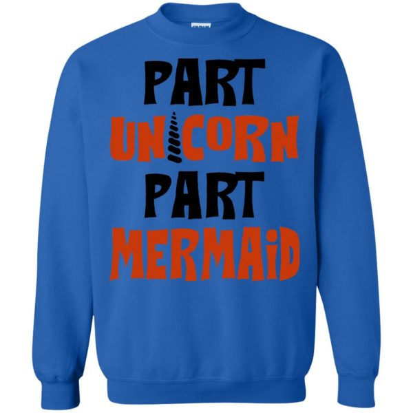mermaid unicorn sweatshirt - royal blue