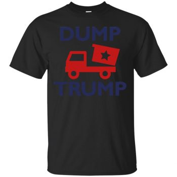 dump trump shirt - black
