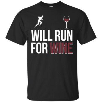 will run for wine shirts - black