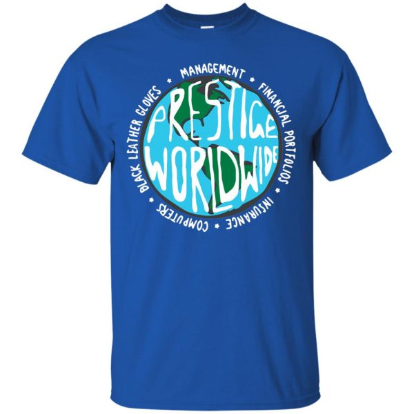 prestige worldwide t shirt - royal blue