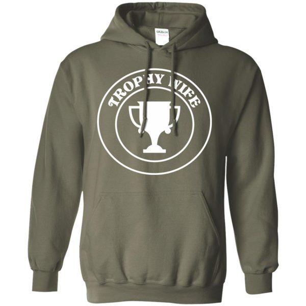 trophy wife hoodie - military green