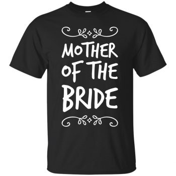 mother of the bride shirt - black
