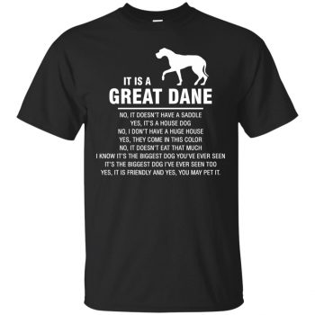great dane t shirts - black
