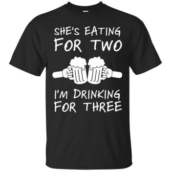 eating for two shirt - black
